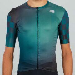 Sportful - Rocket Jersey - Fietsshirt maat XL, turkoois/blauw/zwart