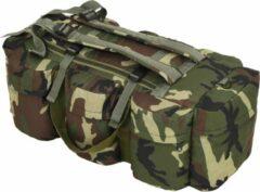 SJ interiors Plunje Rugzak Legerstijl Camouflage 120L - Militaire leger tas - Plunjezak - Sporttas