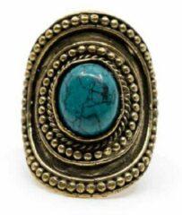 Blauwe Spiru Bohemian Edelsteen Ring Turkoois – Verstelbaar