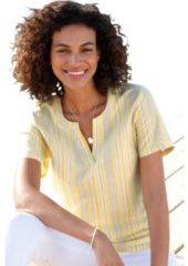 Naturelkleurige Casual Looks blouse van puur katoen