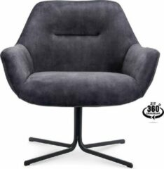 Antraciet-grijze Happy Chairs – Fauteuil Lopez - Velvet Antraciet