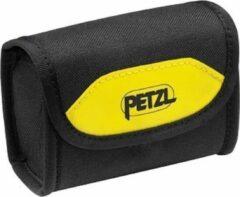 Gele Petzl Poche Pixa opbergtasje voor Pixa hoofdlamp