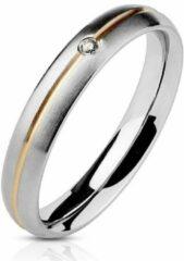 Moorell Ring Dames - Ringen Dames - Ringen Vrouwen - Zilverkleurig - Ring - Ringen - Sieraden Vrouw - Met Uniek Steentje - Amora