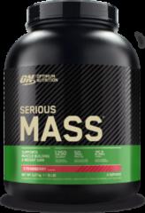 Optimum Nutrition Serious Mass - Weight Gainer / Mass Gainer - Aardbei - 2724 gram (8 shakes)