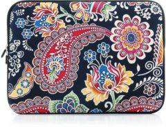 Antraciet-grijze Merkloos / Sans marque Laptop sleeve tot 13 inch met Paisley print – Antraciet/Multicolour