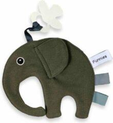 Donkergroene Funnies - Sticker-Design Speendoek - Knuffeldoek - Olifant Ollie - Funnies - FOREST GREEN