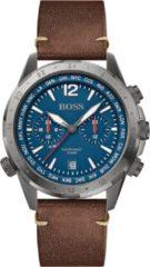 Hugo Boss HB1513773 Herenhorloge Chronograaf Aero staal/leder 44 mm