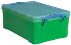Really Useful Boxes RUB gekleurde transparante opbergdoos 9 l groen