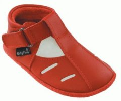Rode Baby Paws babyslofjes Sutton Rood maat 1 = ( 10,5 cm)