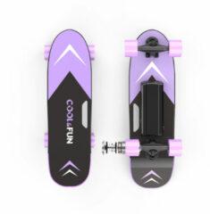 Cool&fun Elektrisch Skateboard met afstandsbediening - 150W - 12-15 km/u - Paars