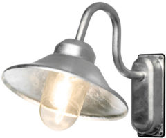 Konstsmide Buitenlamp 'Vega 2' Wandlamp, E27 max 60W / 230V, kleur Metaal