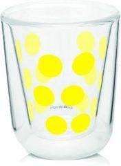 Zak!designs Espressoglas Dot Dot Dubbelwandig 75 Ml Glas Geel
