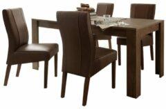 Donkerbruine Pesaro Mobilia Eettafel SKY 180 cm breed - Cognac bruin