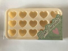 Creme witte We Love Chocolate Chocolade mould hartjes
