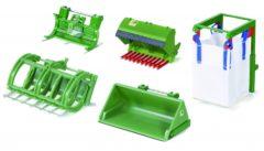 Groene Siku set Bressel & Lade toebehoren voor voorlader groen (3658)