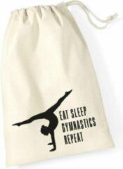 Gebroken-witte Sparkle&Dream Leertjes/Lusjes Tasje 'Repeat', voor turnen en gymnastiek