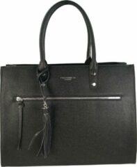 Zwarte Flora & Co Shoulder Bag Straight Line Black