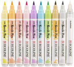 Royal Talens Talens Ecoline Brush Pen - 10 stuks - Pastel - Brushpen