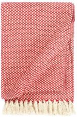 VidaXL Plaid 220x250 cm katoen rood