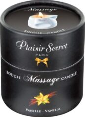 Plaisirs Secrets Massagekaars Vanille - 80 ml