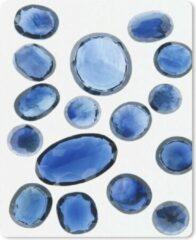 MousePadParadise Muismat Edelsteen Saffier - Verzameling saffier op een witte achtergrond muismat rubber - 19x23 cm - Muismat met foto