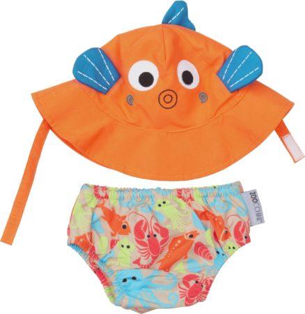 Afbeelding van Oranje Zoocchini Sushi the tropical fish zwemluier + zonnehoedje maat S