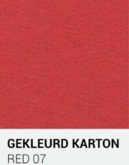 Rode Gekleurdkarton notrakkarton Gekleurd karton red 07 30,5x30,5 cm 270 gr.