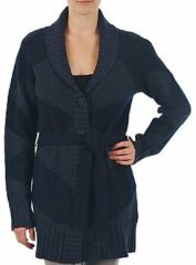Blauwe Vest Gant N.Y. DIAMOND SHAWL COLLAR CARDIGAN
