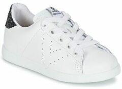 Witte Sneakers Deportivo Basket Piel Glitter by Victoria