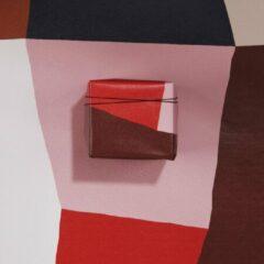 Paperoni - Contours - luxe cadeaupapier - inpakpapier - rol met bijpassend koord - roze - rood