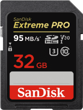 SanDisk Extreme PRO® SDHC-kaart 32 GB Class 10, UHS-I, UHS-Class 3, v30 Video Speed Class