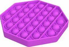 Stemen Pop it fidget toy - paars - achthoek - tiktok - de echte