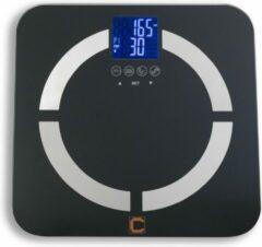 Zwarte Cresta Care CBS350S Personenweegschaal met gewicht, BMI en lichaam analyse