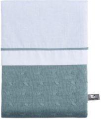 Groene Baby's Only Dekbedovertrek 100x135 cm Cable stonegreen