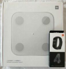 Witte Xiaomi Health Fit pakket (EU-versie) - Mi Smart band 4 + Mi Body composition scale 2 - Monitoren via Fit App