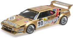 """Gouden BMW M1 Gr.B No.90, 24h Le Mans 1983 """"Warsteiner"""" Pallavicini/Winther/von Bayern 1-12 Minichamps"""