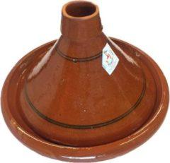 Marocstore.nl Familie Tajine - Ø 35 cm - Aardewerk - Bruin