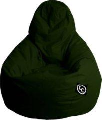 Donkergroene LC Zitzakken Whoober Peervorm Zitzak Barça outdoor leger groen - Wasbaar - Geschikt voor buiten