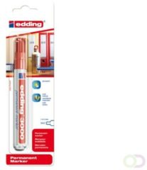 Edding Permanent marker edding 3000 Rood Watervast: Ja 4-3000-1-1002