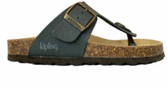 Grijze Kipling Slippers Juan 4 Dark Grey