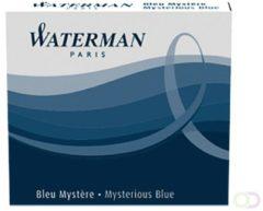 Blauwe Waterman Mysterious blue inktpatronen lang doos á 8 stuks