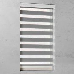 Grijze Pure Living Duo Rolgordijn lichtdoorlatend Grey - 140x175 cm