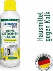 HEITMANN pure Ontkalker - Natuurvriendelijke ontkalker - Citroenzuur Schoonmaakmiddel voor Keuken & Badkamer - vloeibaar - 500 ml