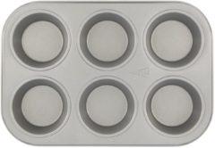 HEMA Muffin Bakvorm - 6 Stuks (grijs)