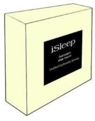 Creme witte ISleep Dubbel Jersey Hoeslaken - Litsjumeaux XL - 190x210/220 cm - Creme