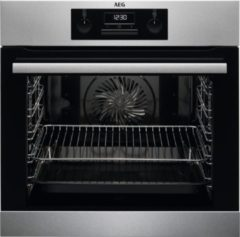 """AEG BEB331010M inbouw oven met GRATIS AEG """"A9OZPS1"""" Pizzasteen"""