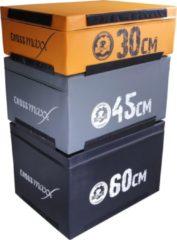 Grijze Lifemaxx Crossmax Soft Plyo Box 45 cm