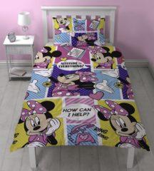 Roze Characterworld Minnie Mouse dekbedovertrek, 1 persoons 140 x 200 centimeter