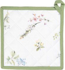 Pannenlap | 20*20 cm | Meerkleurig | 100% Katoen | vierkant | bloemen | Clayre & Eef | HFL45
