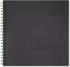 Artgecko Shady Spiraal Schetsboek 30x30 cm 200gr 40 vel Zwart